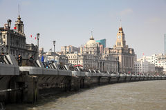 Bund and Huangpu river, Shanghai Stock Image