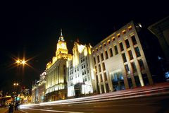 The bund night scenes Stock Photo