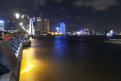 The Bund by Night in Shanghai Stock Photography