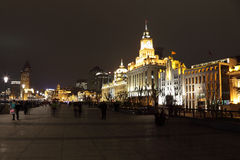 The Bund at night, Shanghai Royalty Free Stock Photography