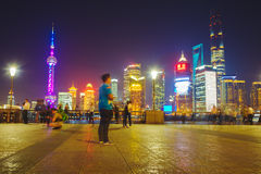 The Bund at night, Shanghai, China Royalty Free Stock Photography
