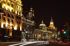 bund noc Shanghai Zdjęcia Stock