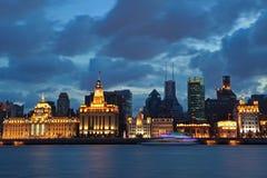bund noc Shanghai widok Zdjęcie Stock