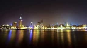 bund porcelanowy noc Shanghai widok Obraz Royalty Free