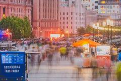 Bund przy nocą, Szanghaj, Chiny Obraz Royalty Free