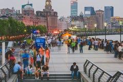 Bund przy nocą, Szanghaj, Chiny Fotografia Royalty Free