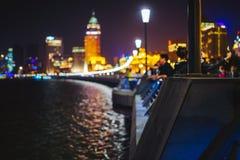 Bund przy nocą, Szanghaj, Chiny Zdjęcia Royalty Free