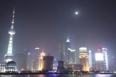 The Bund, Pudong, Shanghai Night royalty free stock image