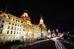 bund sceny Shanghai ulicę Obraz Royalty Free