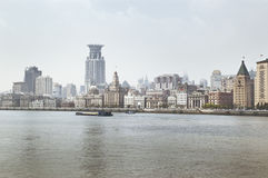 Bund of shanghai. Pu xi bund of shanghai Royalty Free Stock Photo