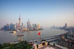 bund shanghai стоковые фотографии rf