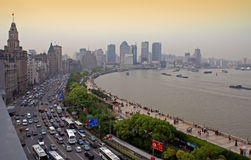The Bund, Shanghai. Shanghai's colonial-era riverfront boulevard, seen from Number Three, the Bund. China Stock Images