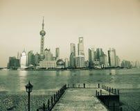 bund shanghai Royaltyfri Fotografi