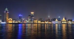 bund shanghai Arkivfoto
