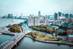 bund shanghai Arkivbild