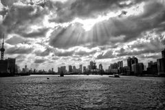 The Bund Shanghai in black and white Stock Photos