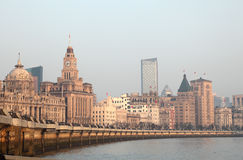 The Bund in Shanghai, China Royalty Free Stock Photo