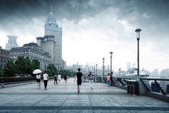 Bund in Shanghai, China Royalty Free Stock Photography