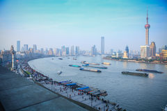 The Bund in Shanghai Royalty Free Stock Image
