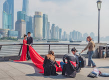 On The Bund, Shanghai, China Royalty Free Stock Photos
