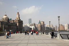 The Bund in Shanghai, China Stock Images