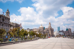 The bund in shanghai. At daytime, famous tourist destination in China Royalty Free Stock Photo