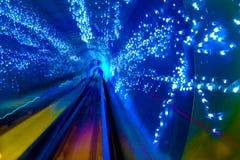 Bund Shanghai för underjordisk järnväg för abstrakt begrepp för blåttgnistastång Fotografering för Bildbyråer