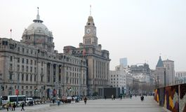 The Bund of Shanghai. The Bund, a historical road in city center of Shanghai, China Stock Photos