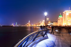 The bund in shanghai at night Royalty Free Stock Photos