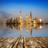 The Bund in Shanghai Royalty Free Stock Photo
