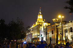 The bund of Shanghai at night Royalty Free Stock Photography