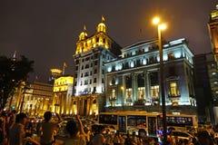 The bund of Shanghai at night Stock Photo