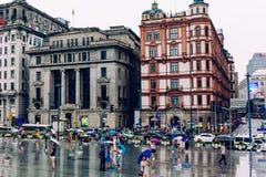Bund Shanghai, porcelana Zdjęcia Royalty Free