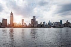 Bund Shanghai przy zmierzchem Obraz Stock