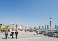 The bund in shanghai china Stock Image