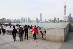 The Bund in Shanghai Royalty Free Stock Photos