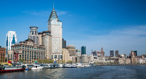 The Bund, Shanghai. View of the bund, shanghai, china from the river Royalty Free Stock Photo