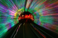 The Bund Sightseeing Tunnel under Huangpu river, Shanghai Royalty Free Stock Images