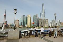 Bund teren w Szanghaj, Chiny Zdjęcia Royalty Free