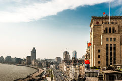 The bund waterfront hangpu river shanghai china Stock Images