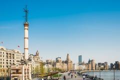 The bund waterfront hangpu river shanghai china Royalty Free Stock Images