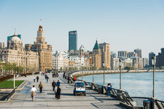 The bund waterfront hangpu river shanghai china Royalty Free Stock Images