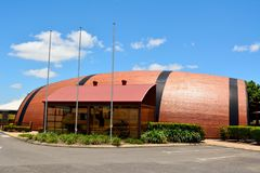 Bundaberg Barrel in Queensland, Australia. Bundaberg, Queensland, Australia - December 25, 2017. Bundaberg Barrel brewery building, known as the Big Barrel, in royalty free stock photo