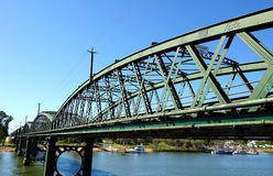 Bundaberg bridge on Burnett River. The Burnett River is a river in central Queensland, Australia that empties into the Pacific Ocean near the city of Bundaberg royalty free stock images
