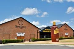 Building of Bundaberg Rum Distillery with the Big Rum Bottle. Bundaberg, Queensland, Australia – December 25, 2017. Building of Bundaberg Rum Distillery stock photography