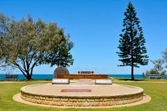 Anzac Day Memorial in Elliott Heads Memorial Park near Bundaberg. Bundaberg, Queensland, Australia - December 25, 2017. Anzac Day Memorial at Submarine Lookout Royalty Free Stock Images