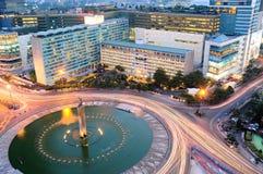 Bundaran HI hotellIndonesien gränsmärke, Jakarta, Indonesien Arkivfoton