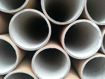 A  bunddle of carton tubes Royalty Free Stock Image