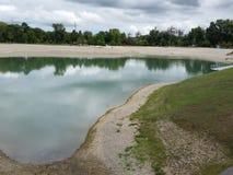 Bundek lake in zagreb Royalty Free Stock Image