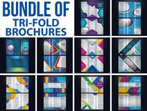 Bundel of Tri-fold brochure royalty free illustration